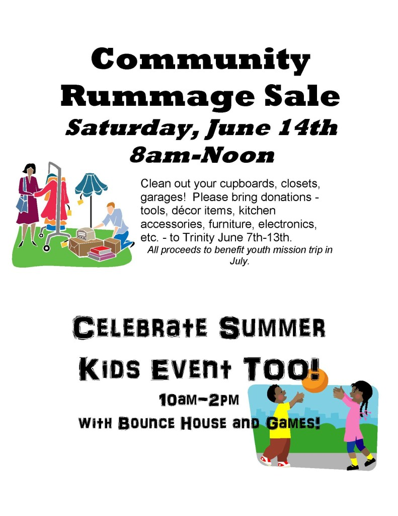 2014 Roots flyer English  Rummage Sale - Kids event_Page_1